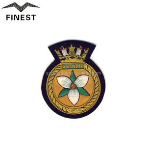 royal navy patch blazer pocket badge embroidered