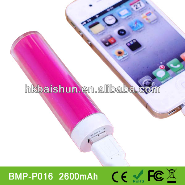 Portable lipstick universal li-ion long lasting power bank