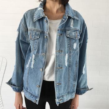 Al2955w Stijlvolle Slim Ripped Gaten Vintage Bomberjack Dames Jeans Top Ontwerp Denim Jas Vrouwen Buy Denim Jasje Vrouwen,Bomberjack Ripped Gaten