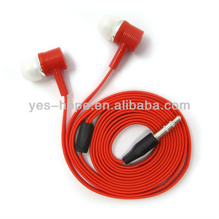 Cheap price fashionable design flat cable stereo mp3 earphone for iPod/iPad