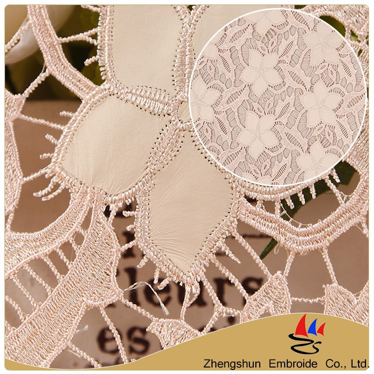 China supplier high quality PU flower applique embroidery making lace dress fabric wholesale sequin fabric for wedding