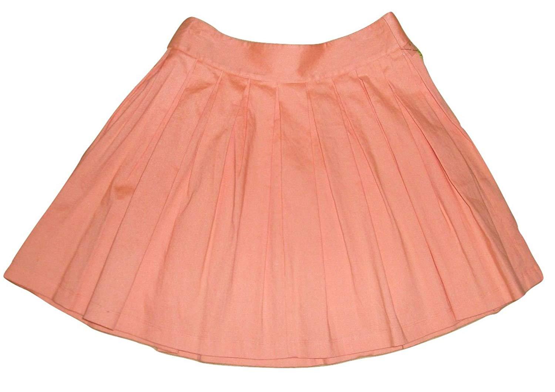 Bloutina Alice + Olivia Wide Pleated Peach Mini Skirt
