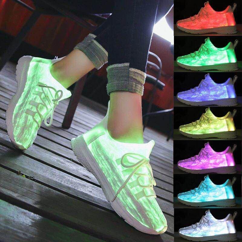 led RGB lighting optical fiber Fabric Materia shoes upper