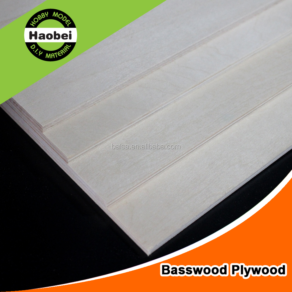 Basswood Veneer Boards Model Aircraft Plywood 915*915mm