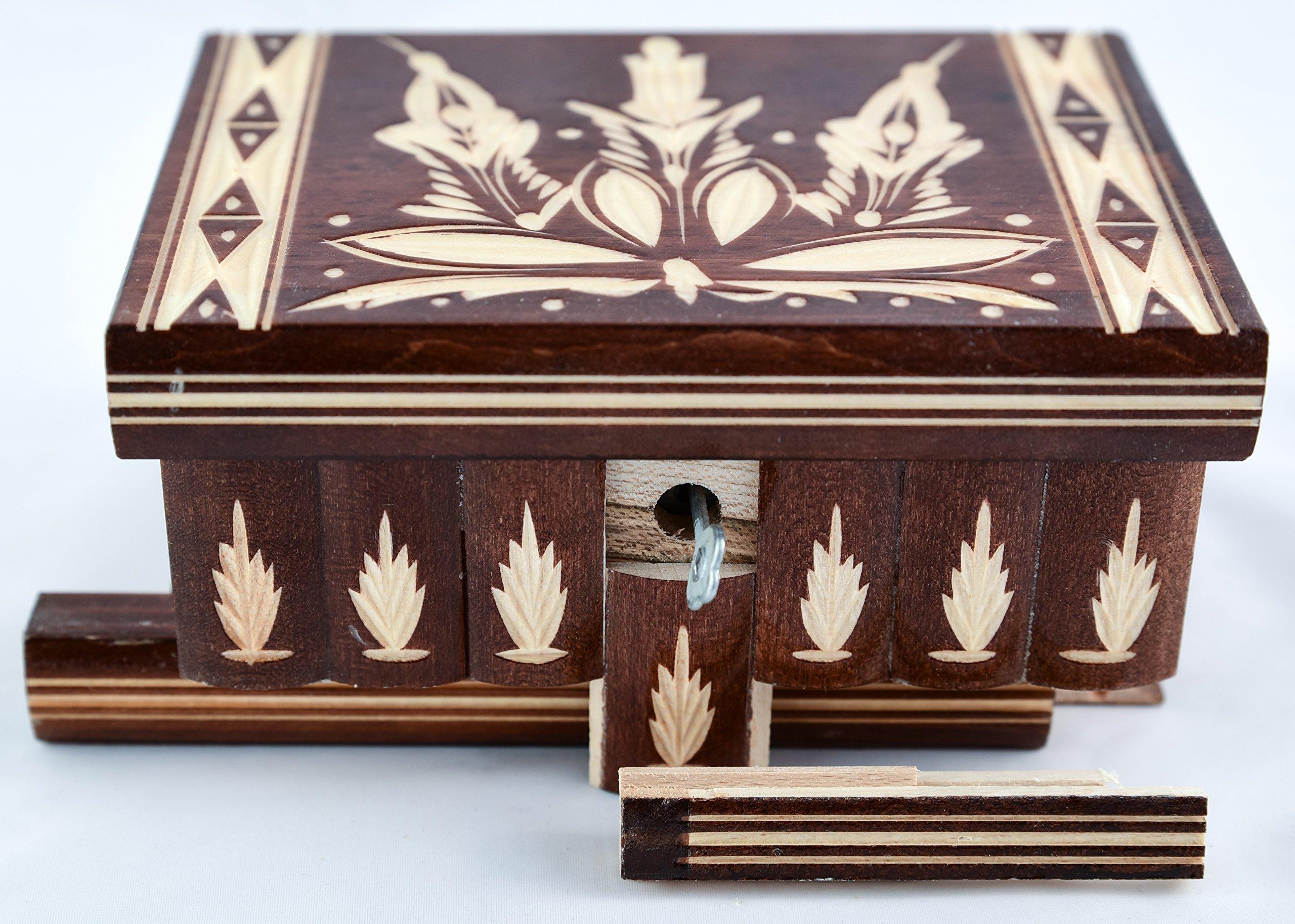 Home Décor Hidden Compartment Safe Stash Puzzle Jewelry Box