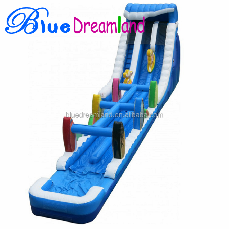 Professional factory big inflatable water slide for great race