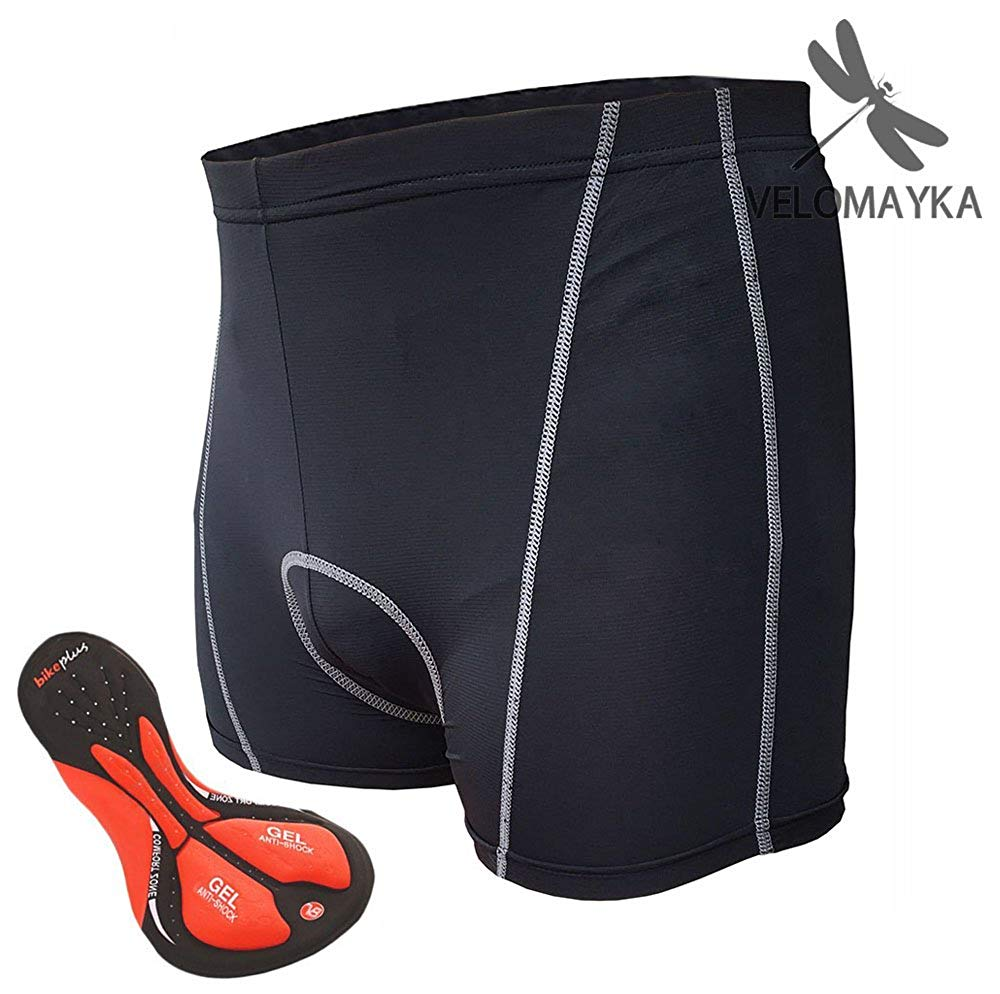 Velomayka Cycling Underwear 3D Padded GEL Riding cycling Shorts Padded Pants ,Breathable, Comfortable, Lightweight