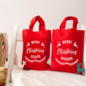 Recycle Large Small Ng Candy New Design Custom Christmas Reusable Gift Bags