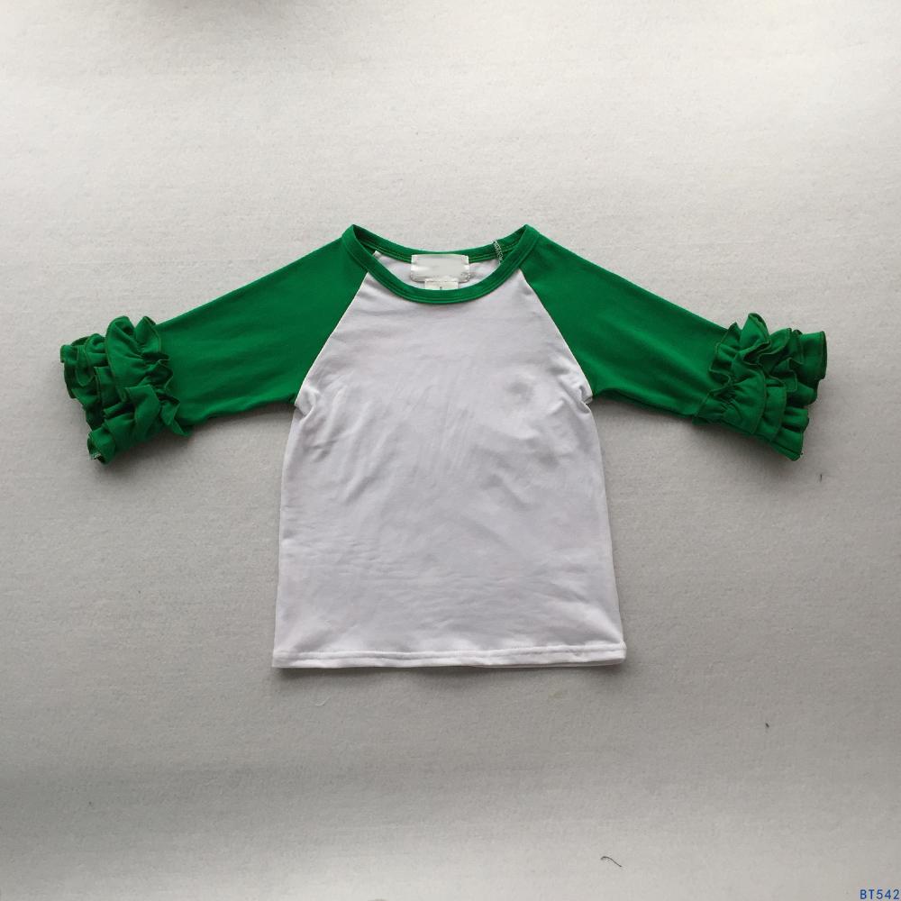 Boutique Weihnachten Kinder Rot/grün Rüschen Hülse Raglan Shirts ...
