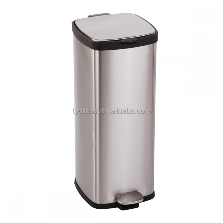Commercial Stainless Steel Kitchen Trash Can Luxury Office Garbage  Container - Buy Designer Kitchen Trash Cans,Luxury Industry Garbage ...