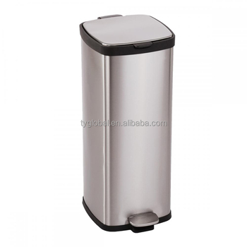 Commercial Stainless Steel Kitchen Trash Can Luxury Office Garbage