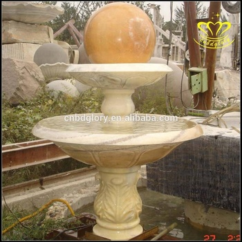 Outdoor stone garden products Custom Design marble water fountain