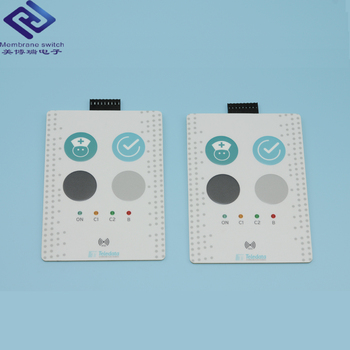 Custom OEM Polyester Tactile Metal Dome Embossed Front Panel Plastic Housing Use Membrane Switch With 3M adhesive Membrane label