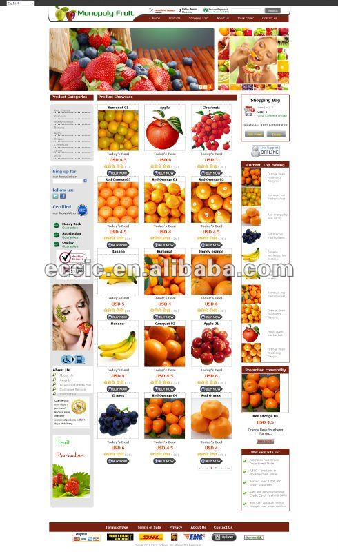 Professional Food and Wood Online Shopping Website Design