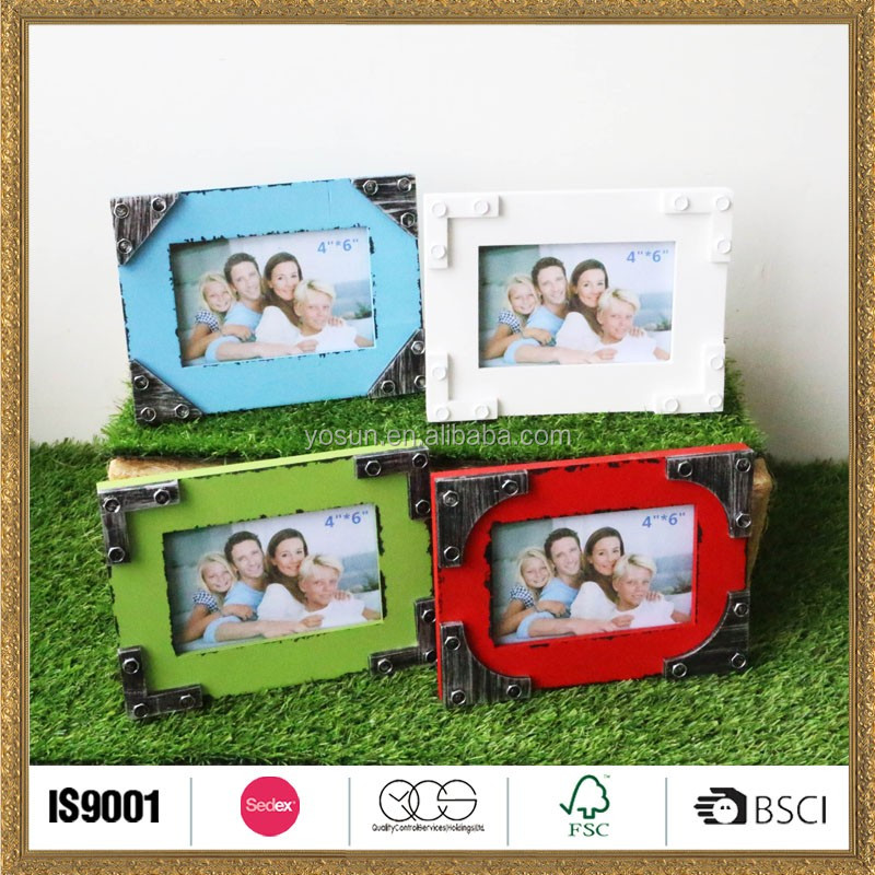personalized wood colorful picture photo frame backboard