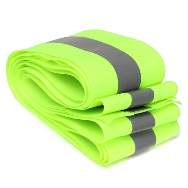 Новое поступление зеленый лайм светоотражающие сохранность ткани лента жилет прокладки пришить