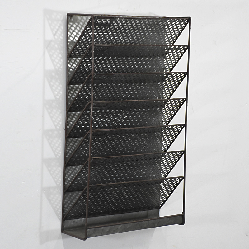 Office school thuis opslag draad metalen mesh wandmontage opknoping file organizer voor wall mount organizer