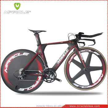 2016 new design red line white decal triathlon bicycle miracle carbon fiber time trail bike