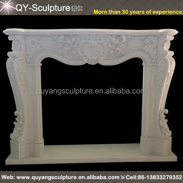 FromFactoryToU! Customize Your Own Size Marble fireplace Mantel