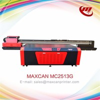 4 color offset digital Maxcan UV flatbed glass printer 3d glass printing machine