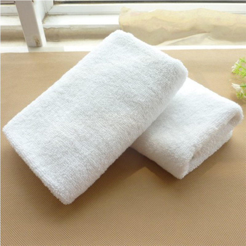 White Thin Customised 100% Cotton Small Hand Towel