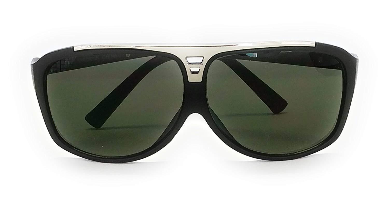 c1c185f4ea0 Get Quotations · Large Flat Top Aviator Sunglasses Metal Bridge Sport  Racing Mens Fashion