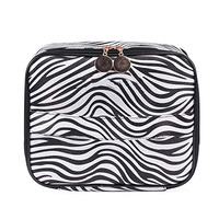 Portable Multifunctional Toiletry Bag Zebra Printing Water-resistant Cosmetic Bag