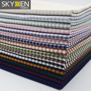 China Wholesale 100% Cotton Yarn Dyed Gingham Check Shirting Fabric