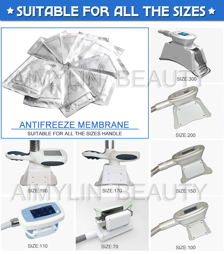 Cryo lipolysis antifreeze membrane for Cryolipolysis Machine