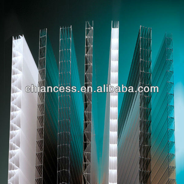 Plastci building material polycarbonate embossed pc hollow sheet