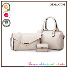 LY2 The European and American fashion handbag the new embossing rose pattern lash collar for recreation pillow three pieces bag