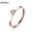 Single Stone Ring Designs Women Wedding Ring CZ Diamond Jewelry Rose Gold Stainless Steel Ring