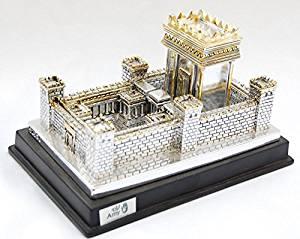 Silver Plating Model//statue Jerusalem Israel Second Temple Model.small Miniature holyland souvenir