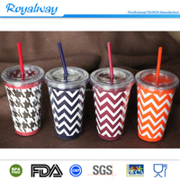 popular party tumbler with color paper