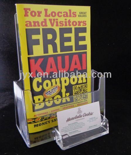 Custom muur opknoping acryl tijdschriftenrek/display plank