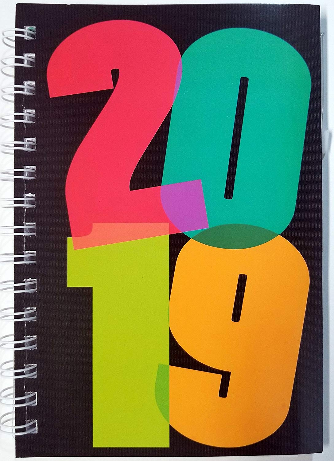 "2019 Weekly/Monthly Planner Calendar with tabs 5-1/2"" x 8"""