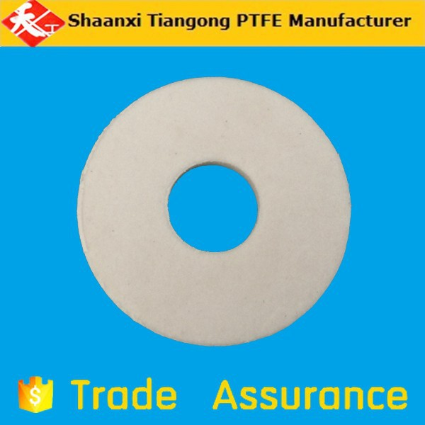 white color 100% virgin pure PTFE plastic gasket shaped parts