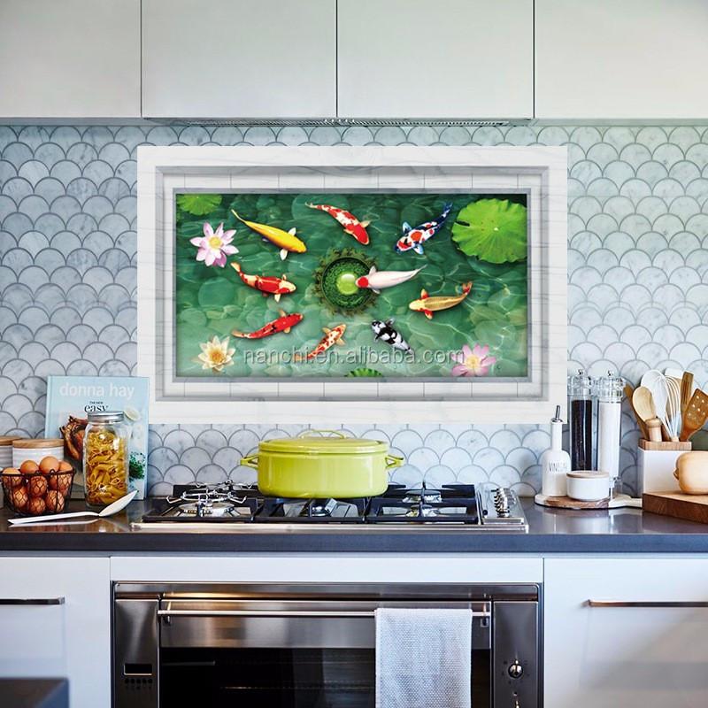 3d boden aufkleber teich fische bad fliesen aufkleber k che fliesen schlafzimmer wand dekor. Black Bedroom Furniture Sets. Home Design Ideas