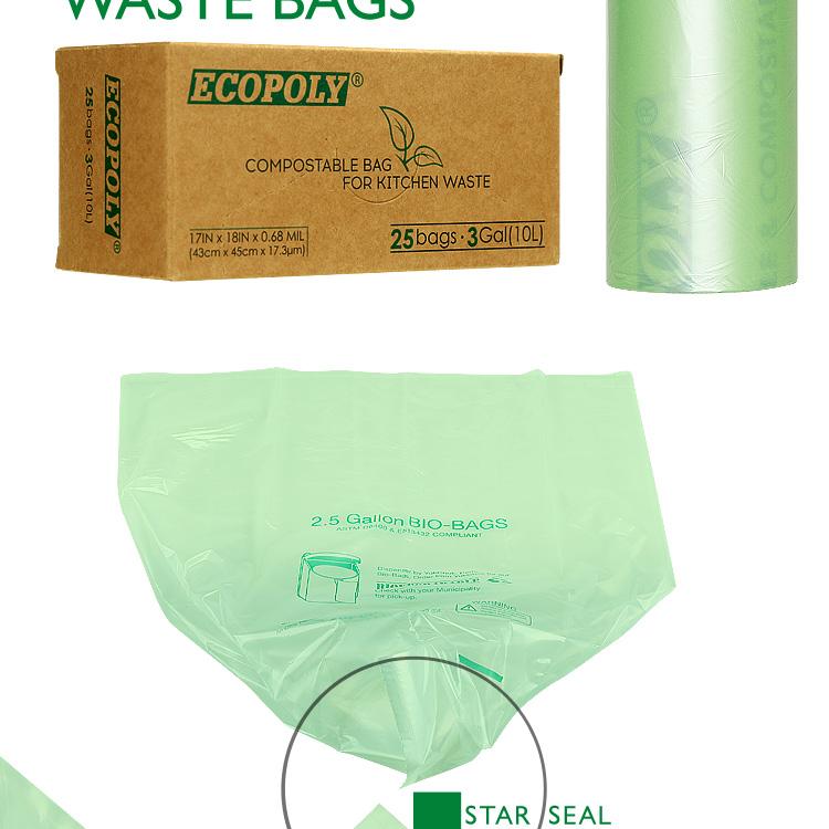 Green Pla Scent Kitchen Tidy Trash Waste Plastic Garbage