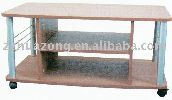 Mobilizable TV cabinet with wood and steel tube
