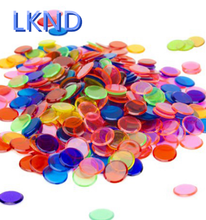new small Plastic colorful transparent bingo chips