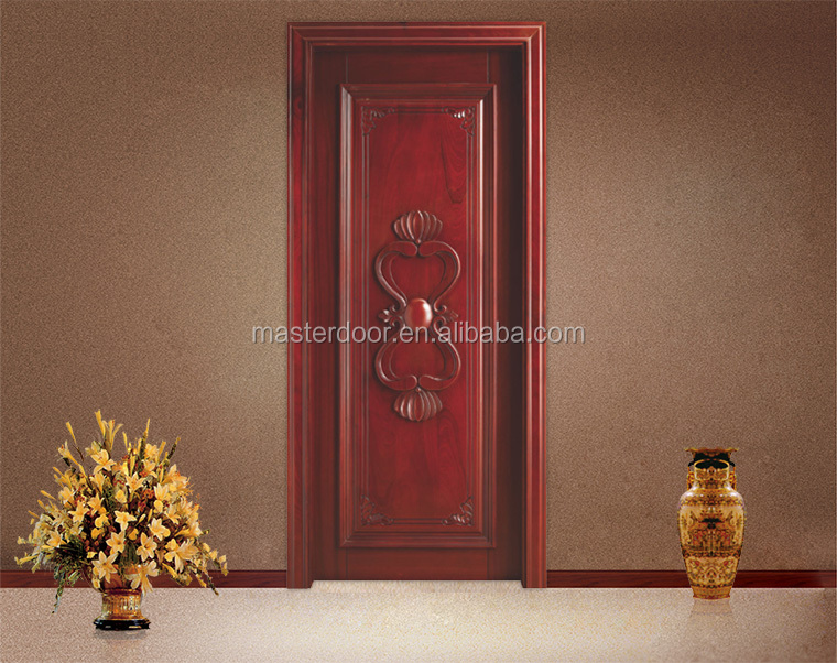 Simple teak wood single main door designs for indian homes for Single main door designs