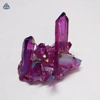 Wholesale Rough Amethyst Aura Quartz Crystal Cluster, Raw Mineral Crystal