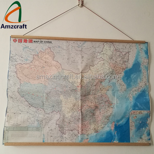 Long Size Solid Wood Map Display Frames Poster Hanger,Customized Diion Map Hanger on map mirror, map scrapbook, map plastic, map hwy 224 clackamas 32nd, map chair, map of downtown denver rtd, map bag, map accessories, map skirt,