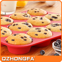 custom bakeware 12 cup silicone muffin pan