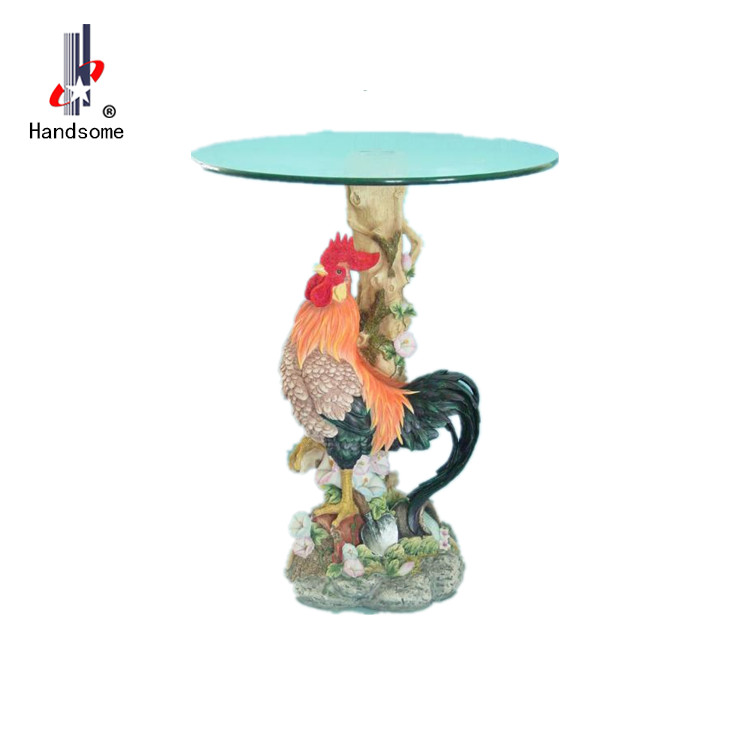24 Inch High Resin Chicken Table Resin Console Table - Buy Resin