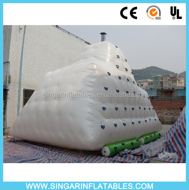 Good quality inflatable iceberg water toy for water park,sea,lake