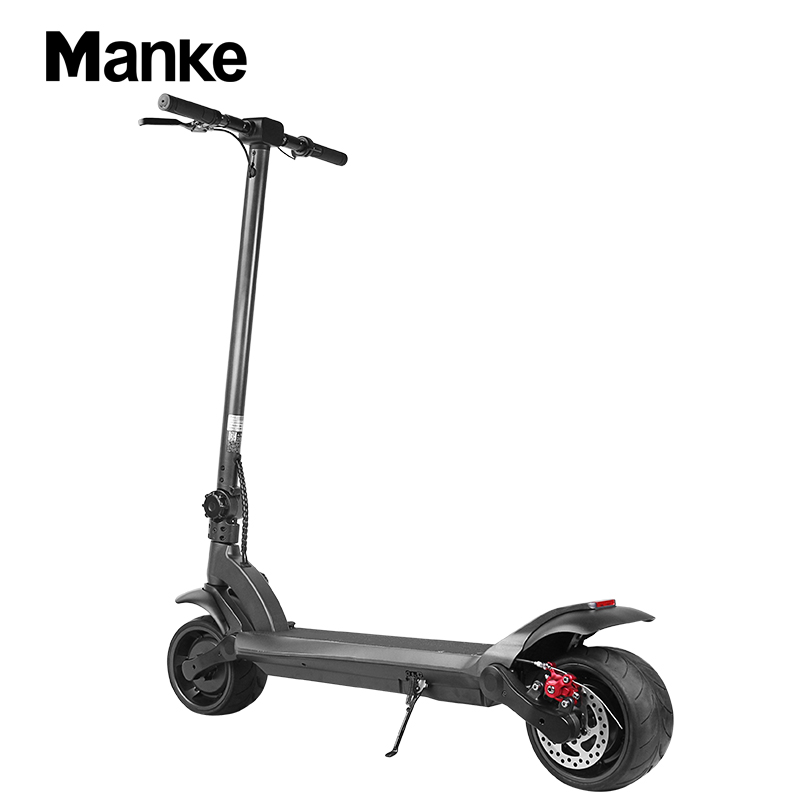 Manke MK109 48V 500W 8 Inch Wide Wheel Fat Tire Foldable Fast Speed Electric Kick Scooter Standing Adult Folding Kick Scooter, Black