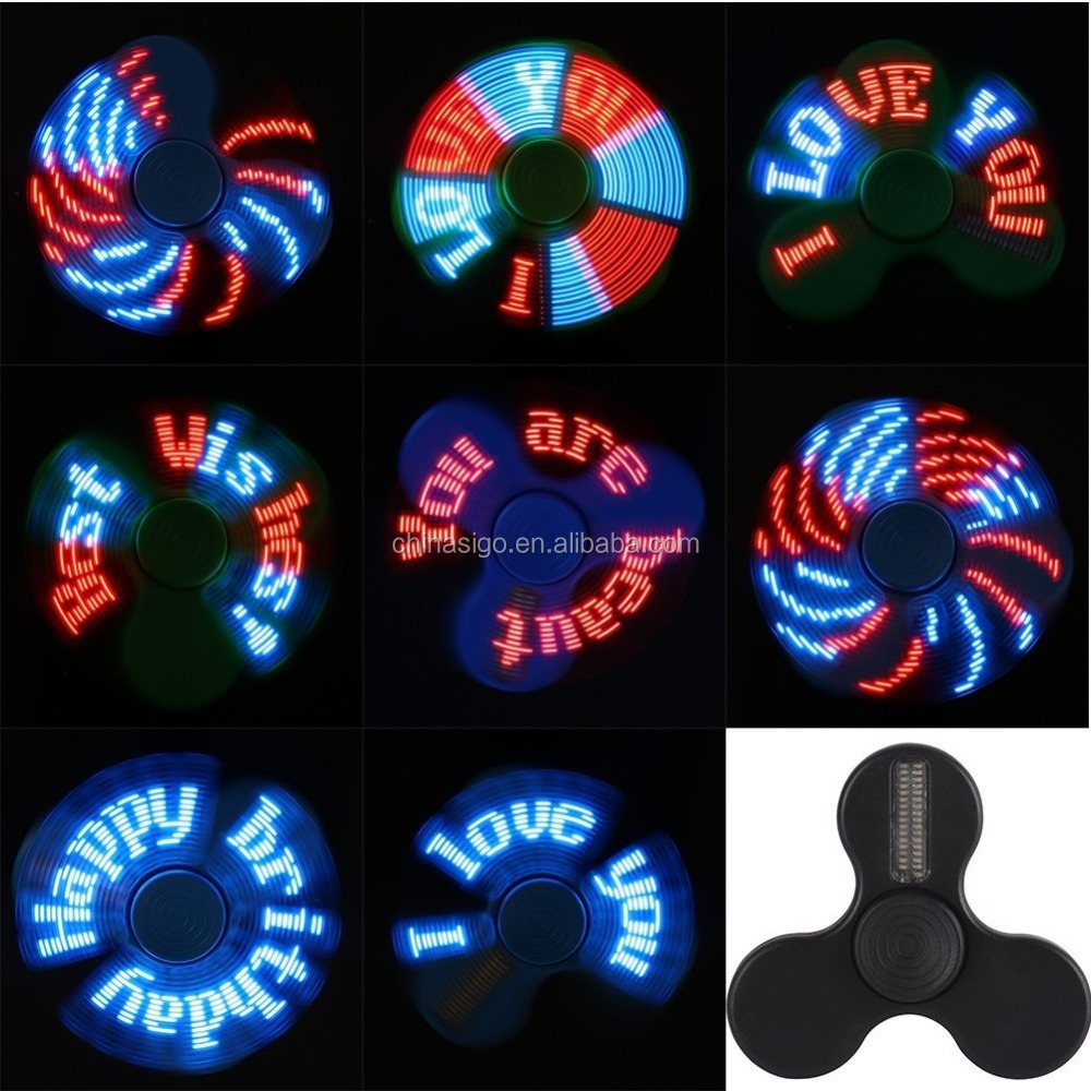 Programmable LED Fidget Hand Spinner with APP Control Customize Colors Patterns Characters