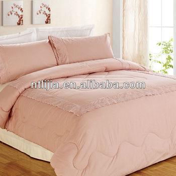 Kosmos Home Textile Solid Comforter 100 Cotton Peach Colored